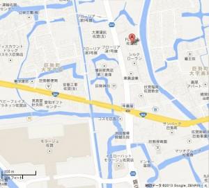 フライズ佐賀店の地図