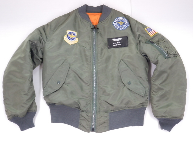 ALPHA USA アルファ MA-1 90年代 FLYER'S MIL-J-82790J USAF size-SMALL 4TH MAS パッチカスタム 買取&販売情報!フライズ鳥栖店!