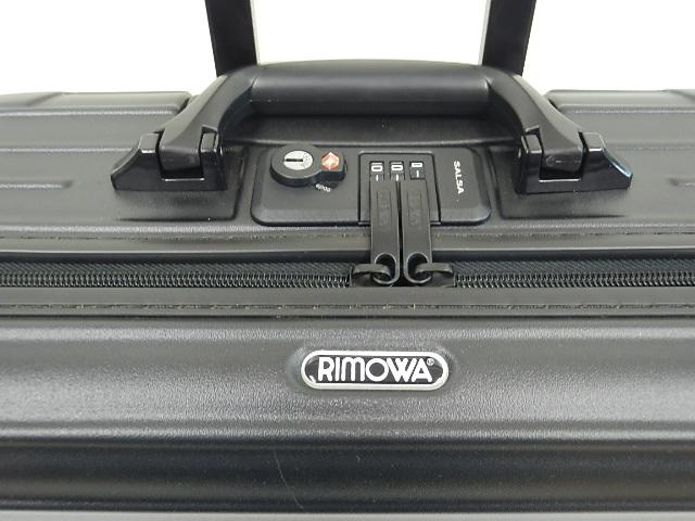 RIMOWA リモワ SALSA  サルサ 機内持ち込みサイズ 1~2泊 黒 25L ドイツ 買い取りました。フライズ鳥栖店